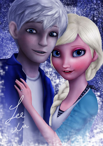 frozen pictures of elsa and jack frost wallpaper images