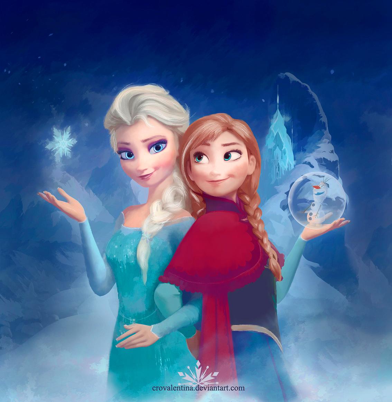Elsa and Anna - Elsa und Anna Fan Art (37470125) - Fanpop