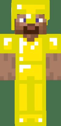 gold armor steve