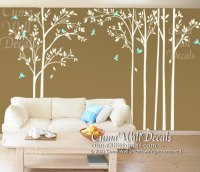 tree wall decal birds wall decals office wall mural ...