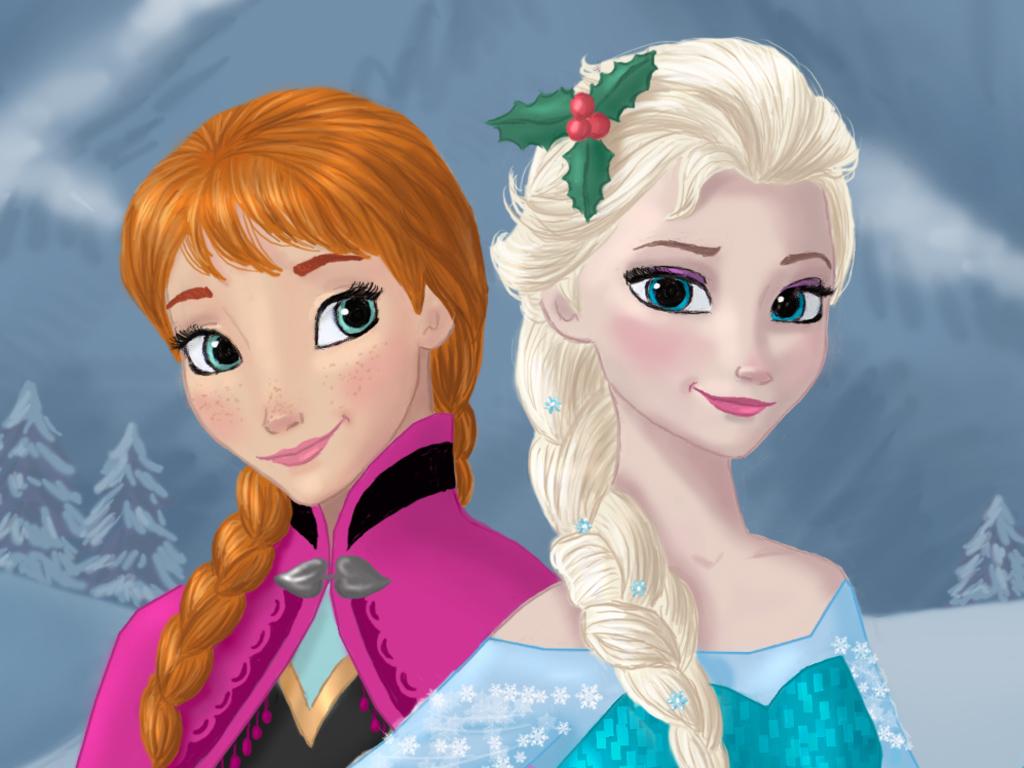 Anna and Elsa - Elsa und Anna Fan Art (37928358) - Fanpop