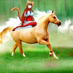 Cute Catgirl Eris With Her Beautiful Horses Catgirls Fan Art 38782931 Fanpop
