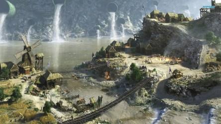 Fantasy Town Fantasy achtergrond 38733652 Fanpop
