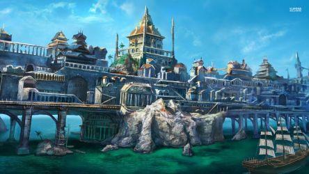 Fantasy Town Fantasy achtergrond 38733655 Fanpop