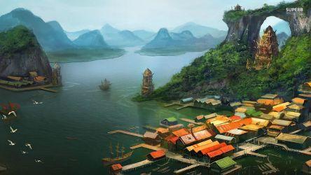 Fantasy Town Fantasy Wallpaper 38733657 Fanpop