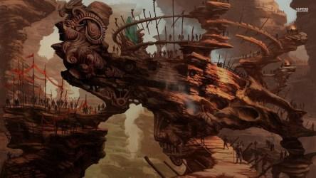Fantasy Village Background