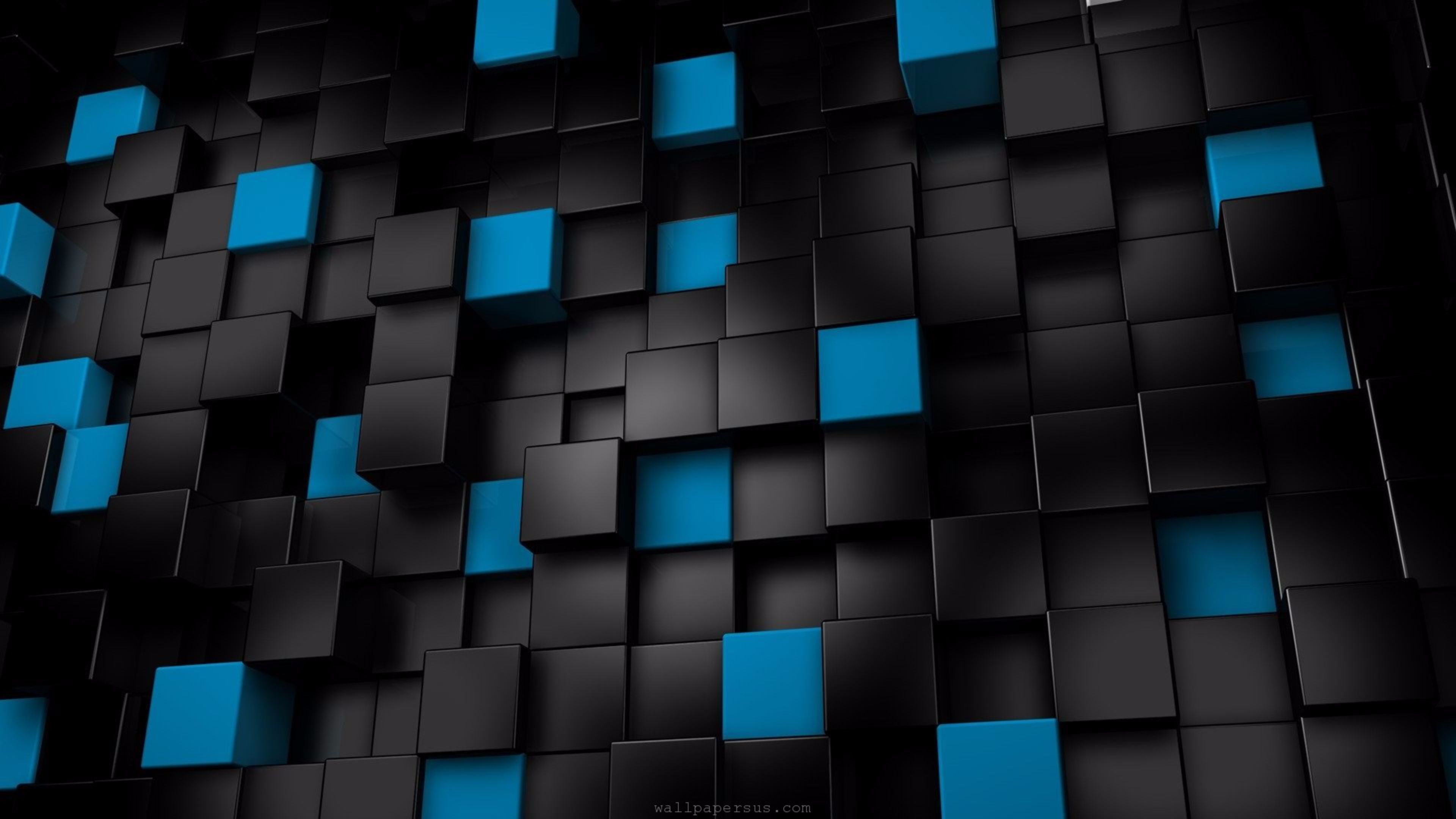 black and blue 3d