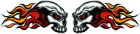 "AWESOME SKULLS "" N "" STUFF images FIRE SKULL STICKER HD ..."