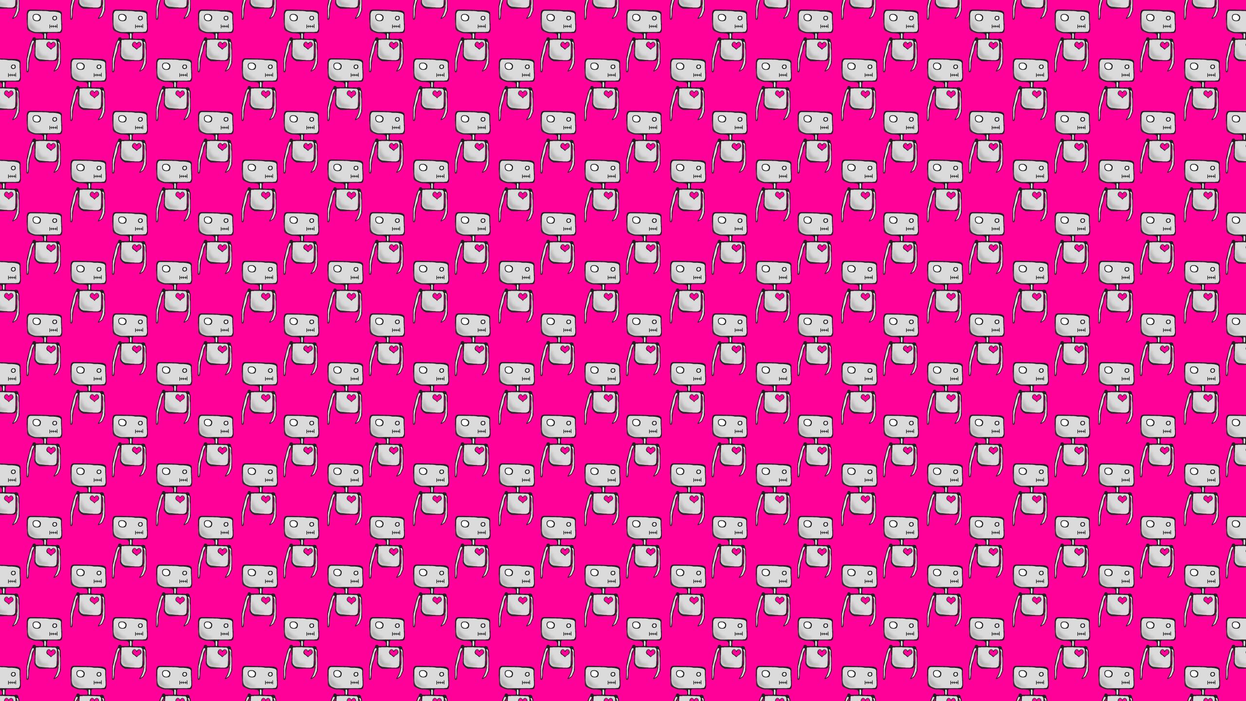 Skate Girl Hd Wallpaper Amor Robots Fondo De Pantalla Patterns Backgrounds