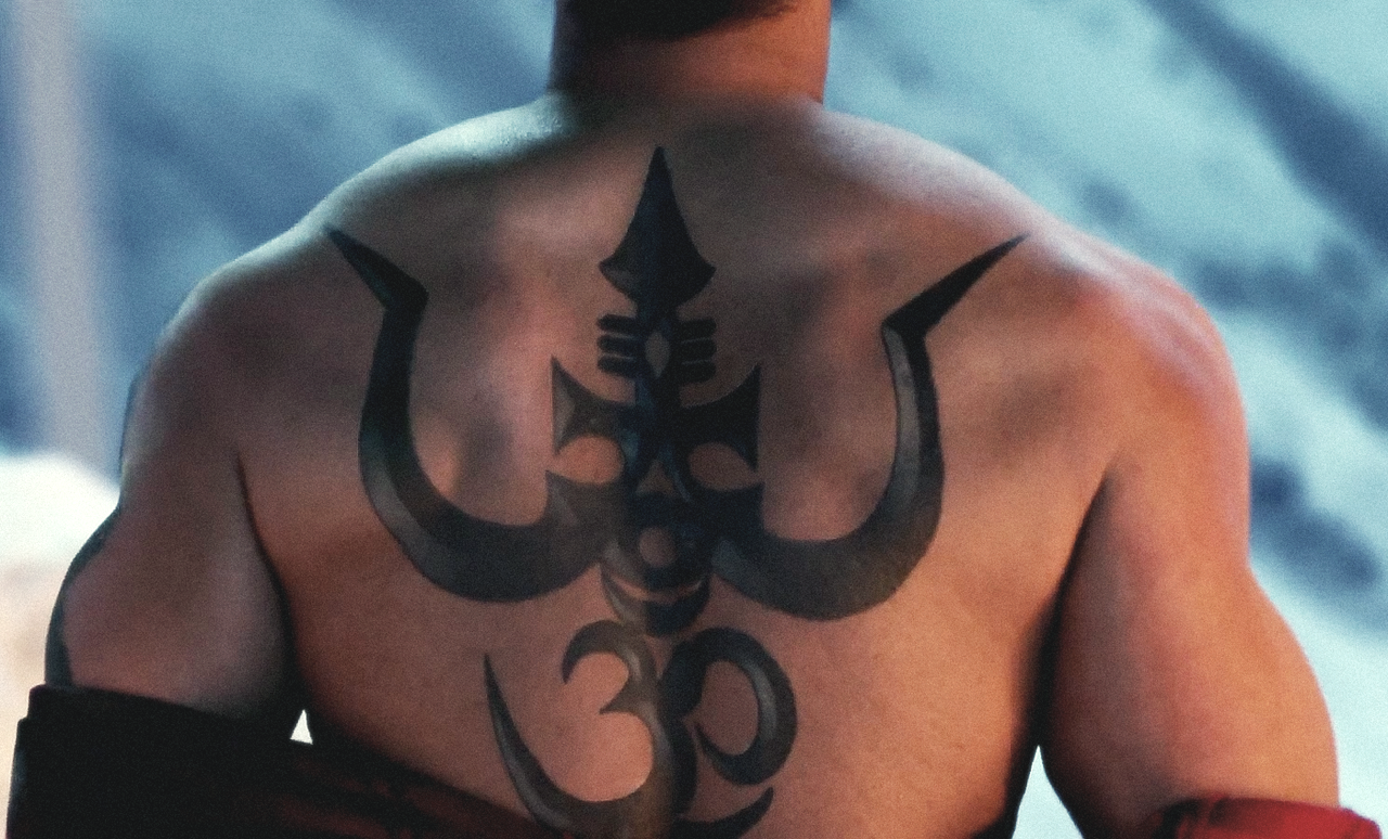 Shivaay Trishul Tattoo On Back