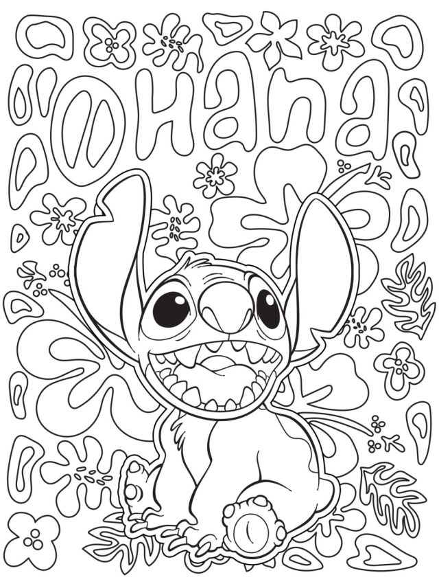 Lilo and Stitch Coloring Page - Lilo & Stitch Foto (13) - Fanpop
