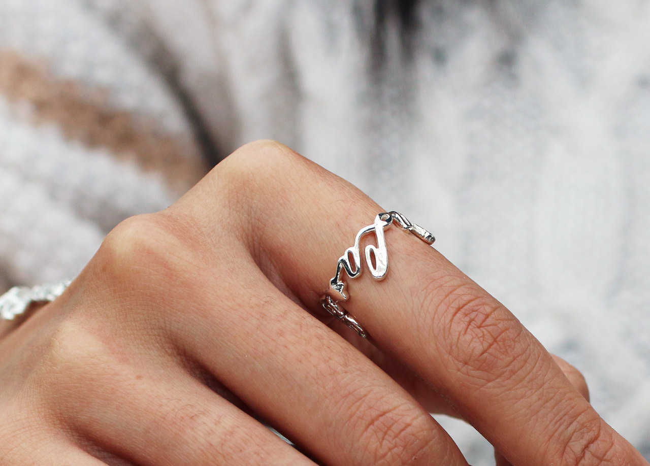 personalized name ring unique
