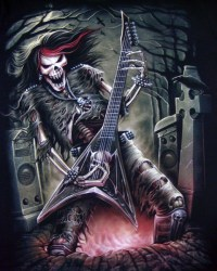 "AWESOME SKULLS "" N "" STUFF images skeleton with guitar ..."