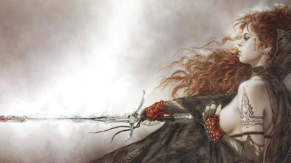 Luis Royo Female Fighter Hd Wallpaper And