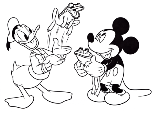 Donald Duck Goofy Disney Character Coloring Pages Coloring