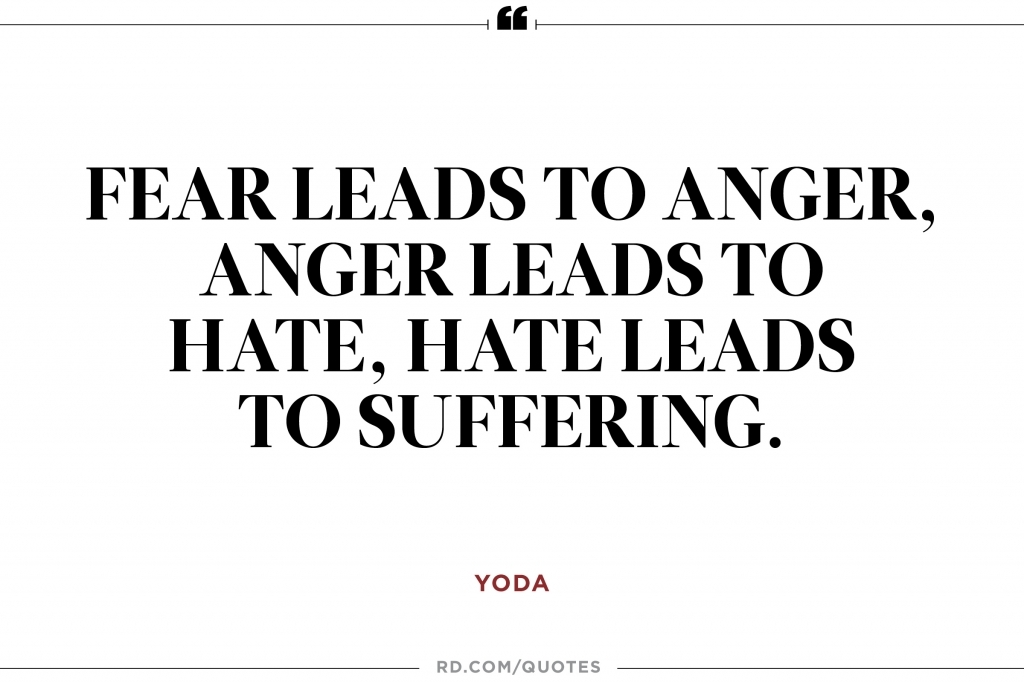 Image result for yoda quotes hate leads to suffering