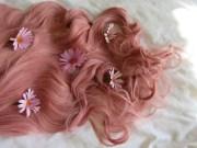 daisies in hair - aesthetic