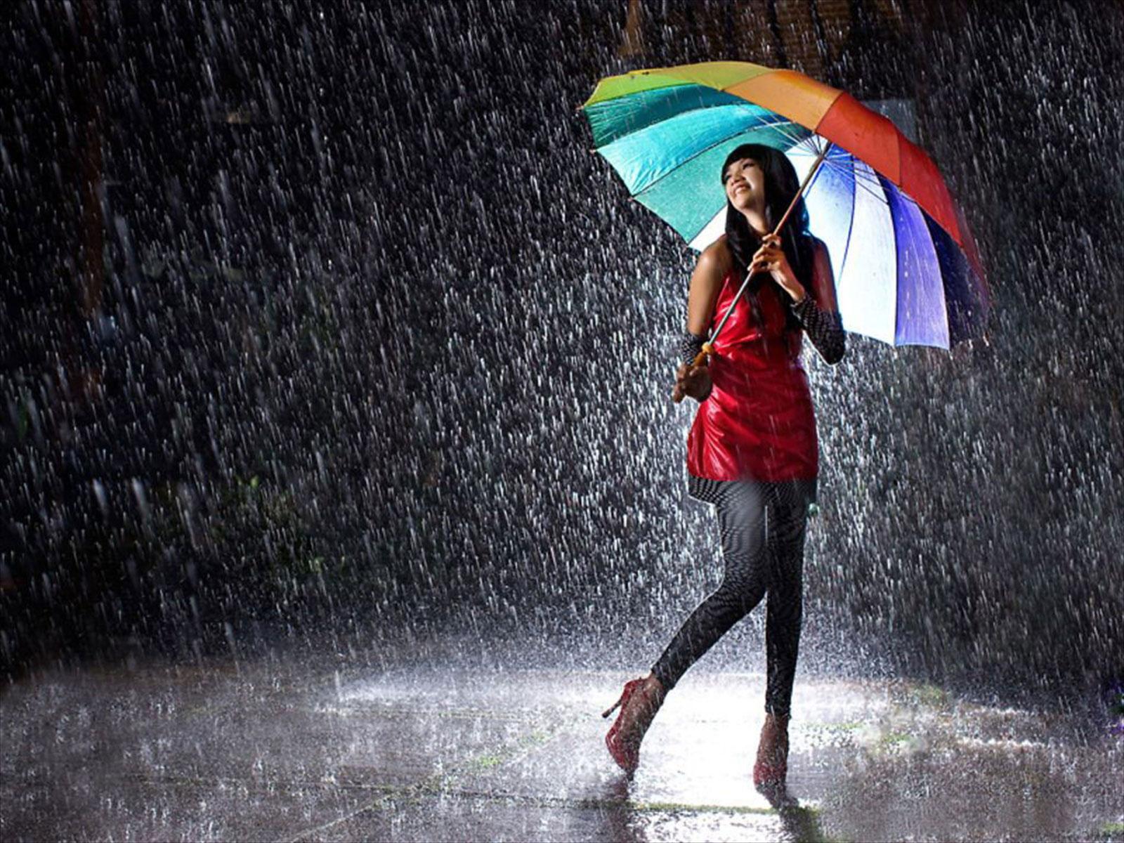 7007814 girl in rain