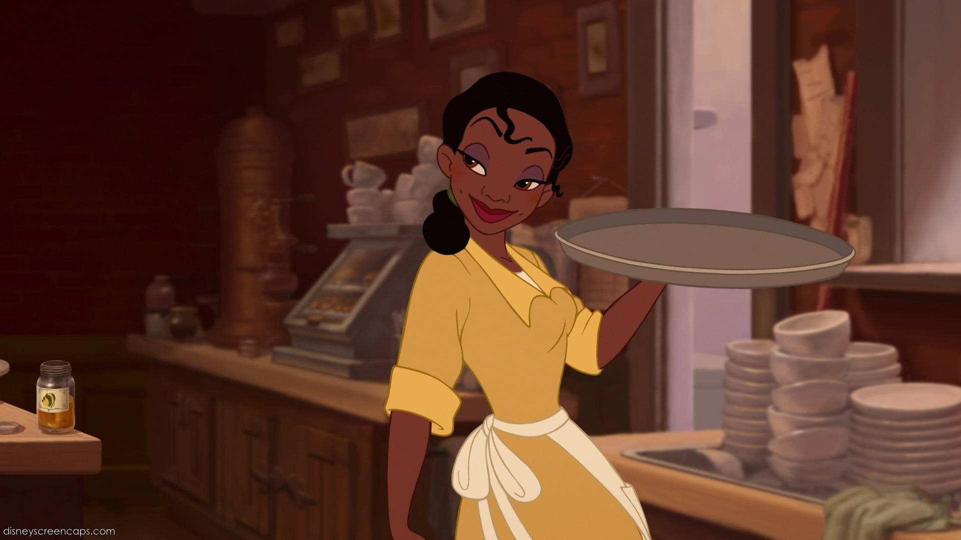 Image result for tiana princess and the frog waitress