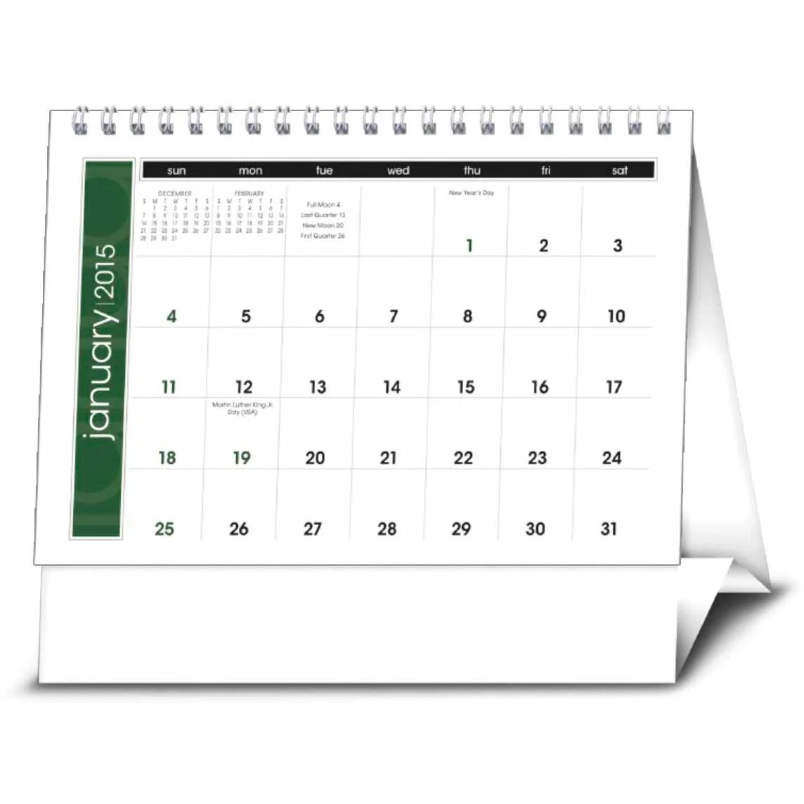 Simplicity Large Desk Calendar 2016  Custom Calendars