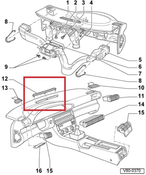 Audi A6 / A7 Klub Polska :: Jak zdemontować kratkę nawiewu