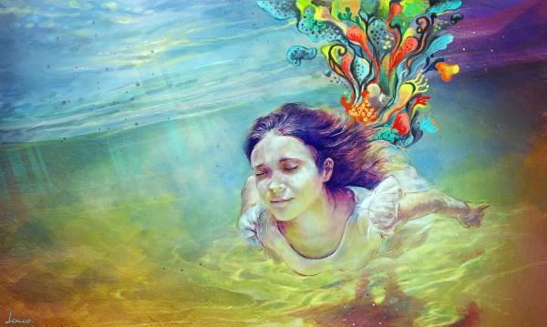 Trippy Psychedelic Art Women