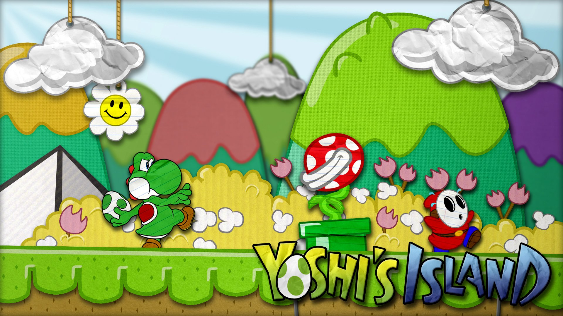 Shy Guy Iphone Wallpaper Super Mario World 2 Yoshi S Island Full Hd Wallpaper And