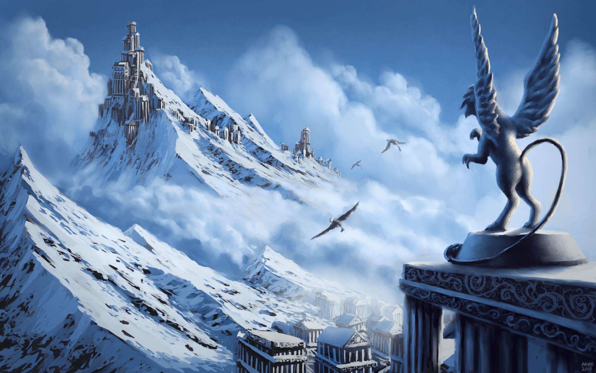 City Wallpaper Iphone X Griffin Full Hd Wallpaper And Background Image 1980x1238