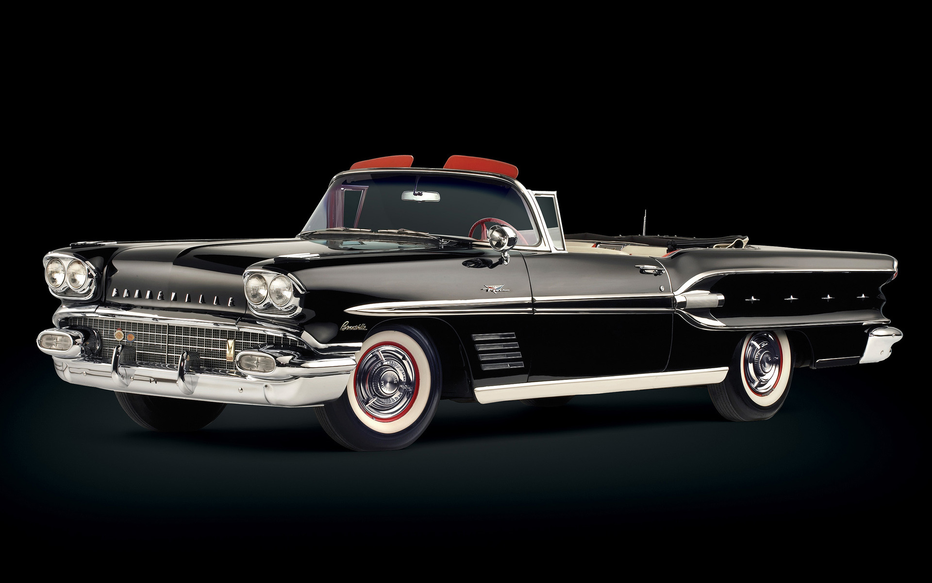 Classic Old Car Wallpapers 1600x900 1 1958 Pontiac Bonneville Hd Wallpapers Background