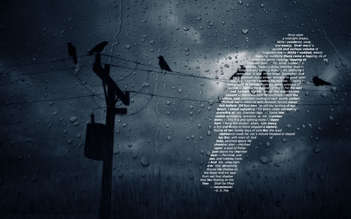 Edgar Allan Poe Quotes Wallpaper Raven Wallpaper And Background Image 1440x900 Id 456812