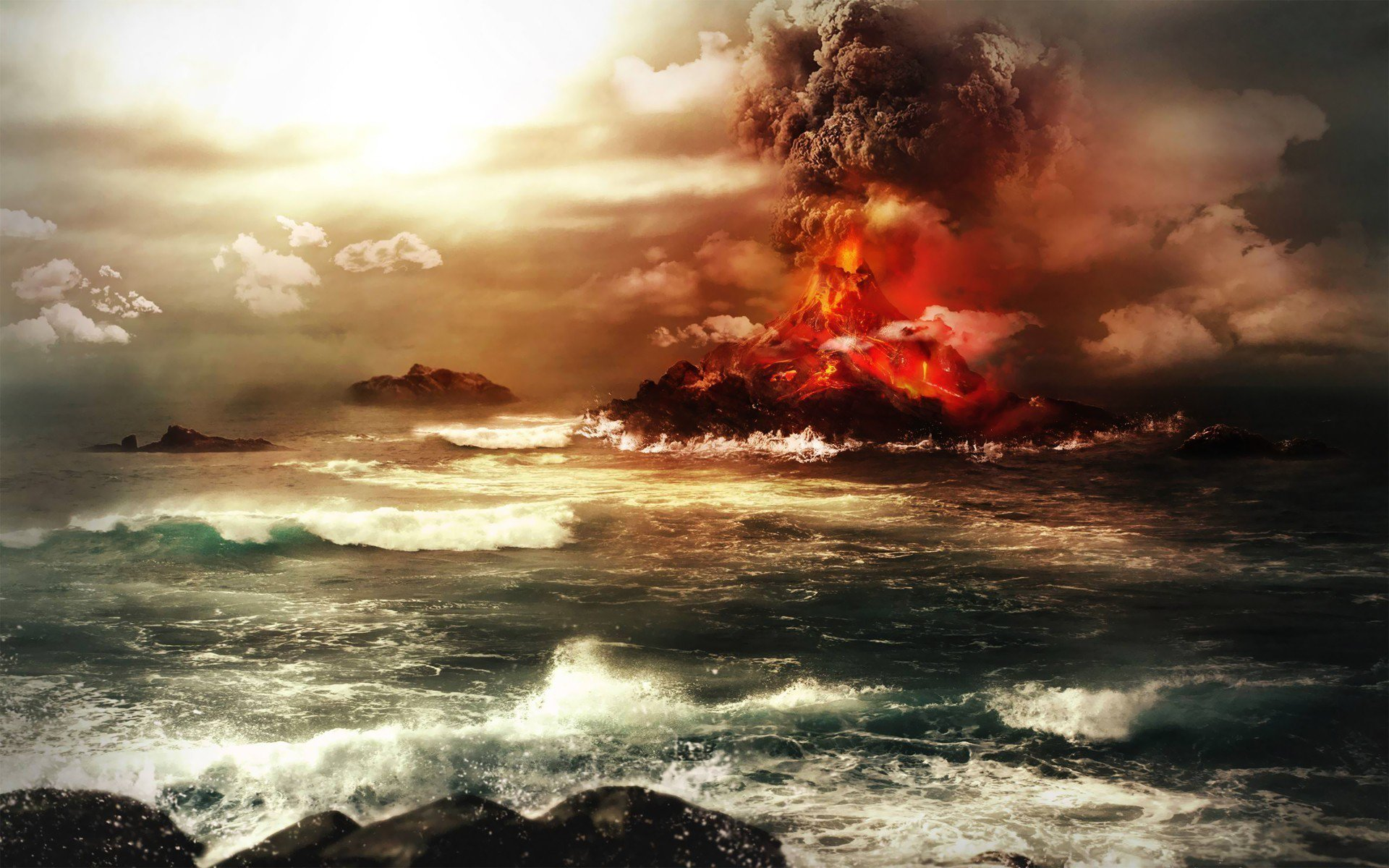 158 volcano hd wallpapers | backgrounds - wallpaper abyss - page 2