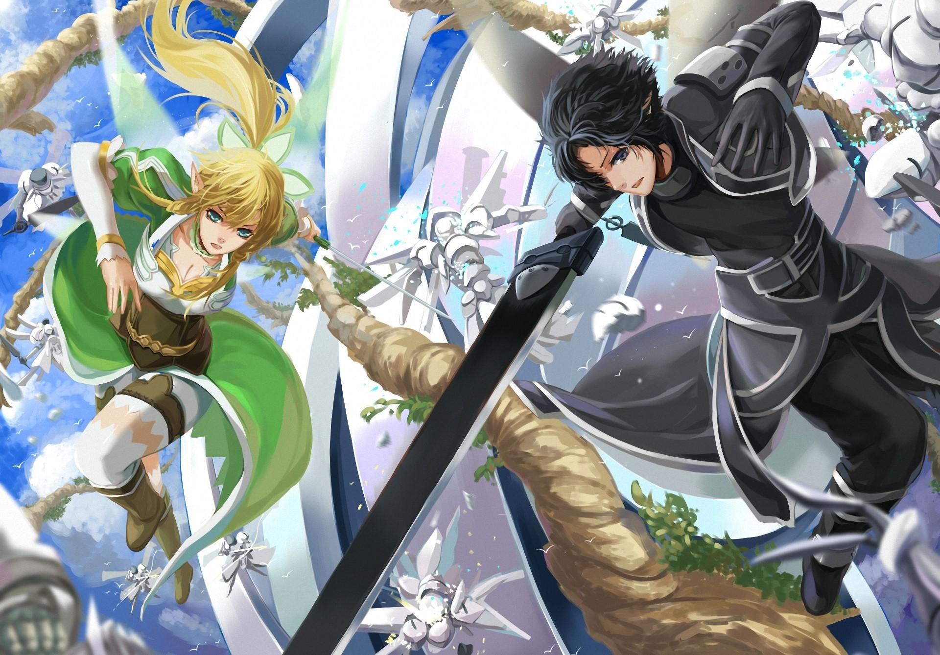Black Lagoon Iphone X Wallpaper Sword Art Online Full Hd Wallpaper And Achtergrond