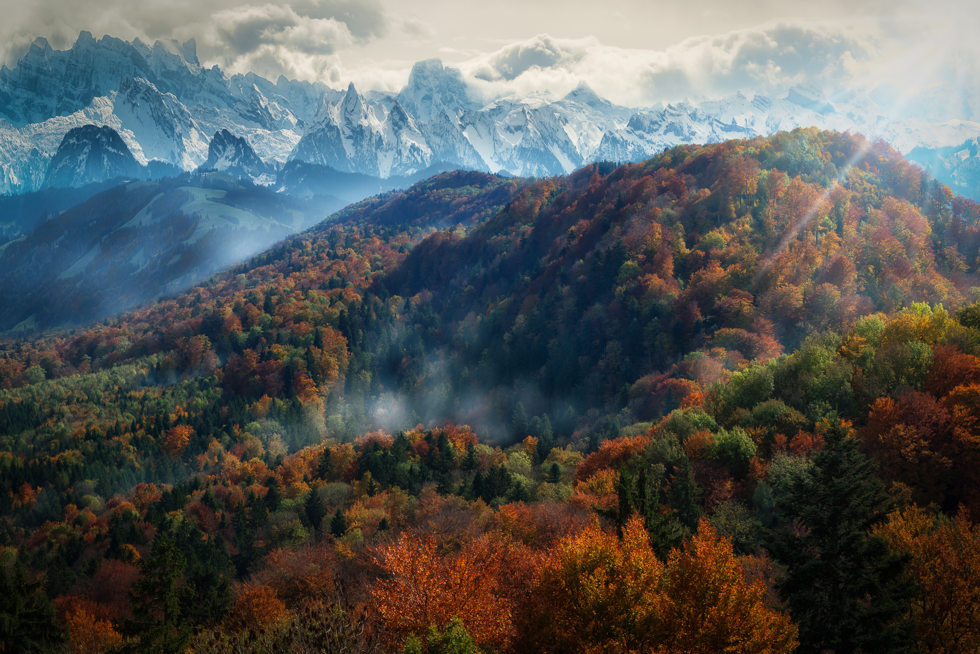 Autumn Fall Wallpaper 1600x900 Autumn In The Alps Full Hd Wallpaper And Background Image