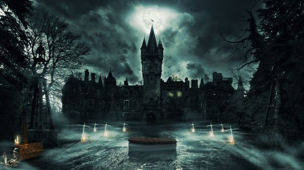 Gothic Castle Hd Wallpaper Background 1920x1080
