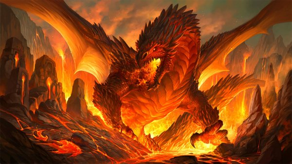 Red Epic Dragon Backgrounds