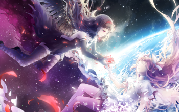 Pretty Anime Falling Angel Wallpapers 1920x1080 Hd 675 Homura Akemi Hd Wallpapers Background Images