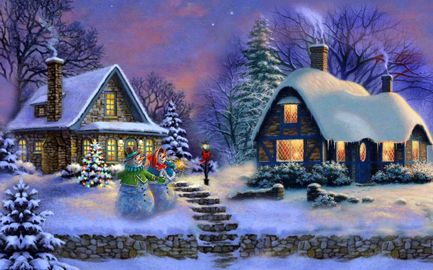 Christmas Painting Wallpaper and Background Image  1680x1050  ID749919  Wallpaper Abyss
