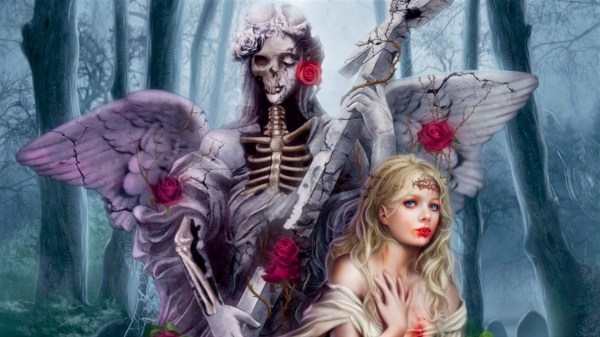 Angel Of Death With Vampire Hd Wallpaper Background