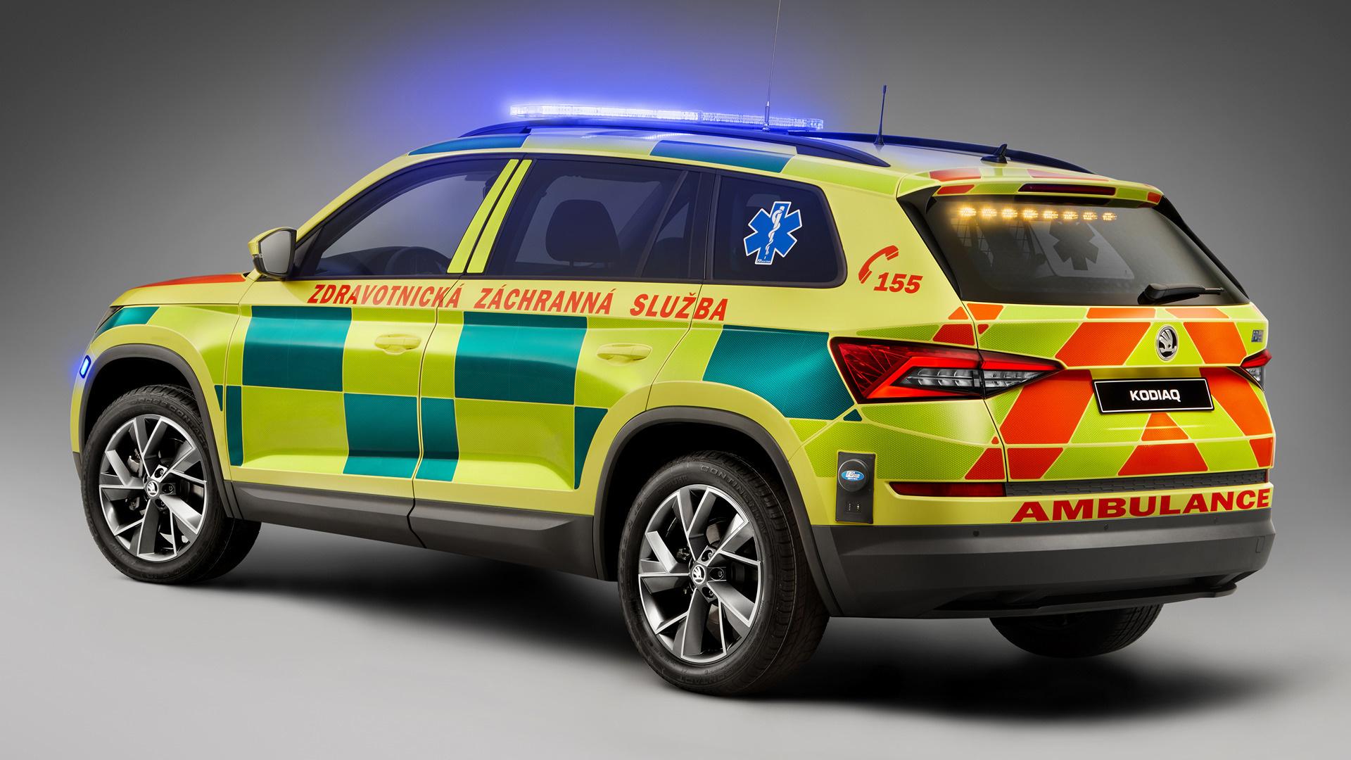 2017 Skoda Kodiaq Ambulance Hd Wallpaper Background Image