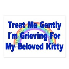 Kitty Over Rainbow Bridge Postcards (Package of 8)