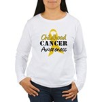 Childhood Cancer Women's Long Sleeve T-Shirt