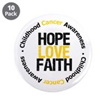 "ChildhoodCancerHopeLove 3.5"" Button (10 pack)"