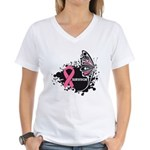 BreastCancerSurvivor Women's V-Neck T-Shirt