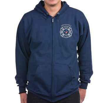 Fire Fighter Wife Zip Hoodie (dark)