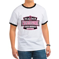 Real Men Wear Pink Ringer T