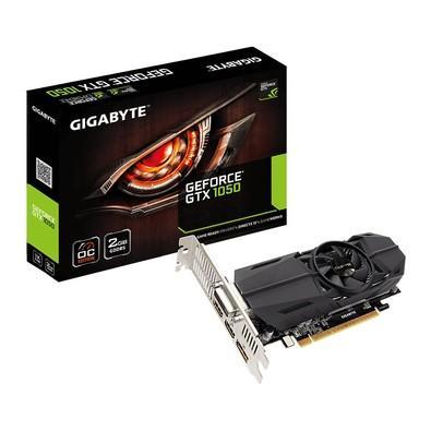 Placa de Vídeo VGA Gigabyte NVIDIA GeForce GTX 1050 OC Low Profile 2GB, GDDR5, 128 Bits - GV-N1050OC-2GL