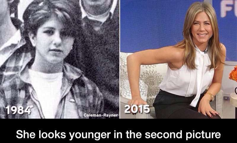 jennifer aniston forever young
