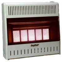 Kozy World GWR505 5 Plaque Dual Fuel Infrared Wall Heater ...