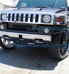 details about service chrome plating front bumper hummer h2 suv sut h3 [ 1024 x 768 Pixel ]