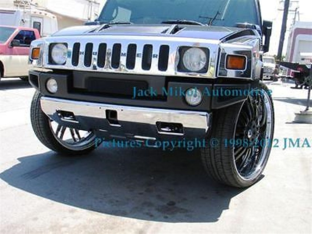 medium resolution of details about service chrome plating front bumper hummer h2 suv sut h3